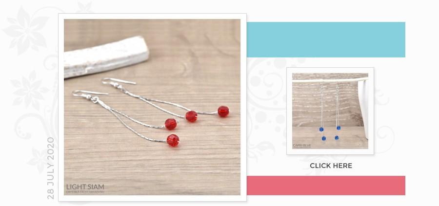 Grossiste Fournisseur Silver Earrings with Swarovski Crystal